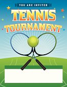 Vector Tennis Tournament illustration