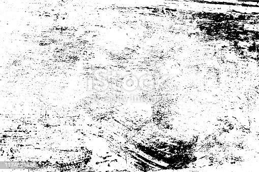 istock Vector texture. Abstract grunge background, scratched old wall. 1174521456