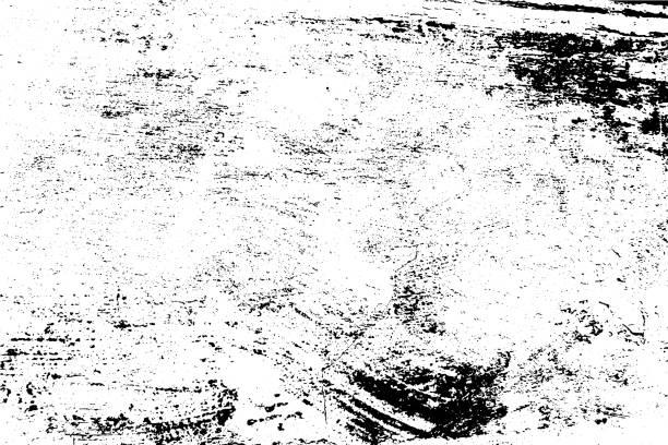 ilustrações de stock, clip art, desenhos animados e ícones de vector texture. abstract grunge background, scratched old wall. - desvanecido