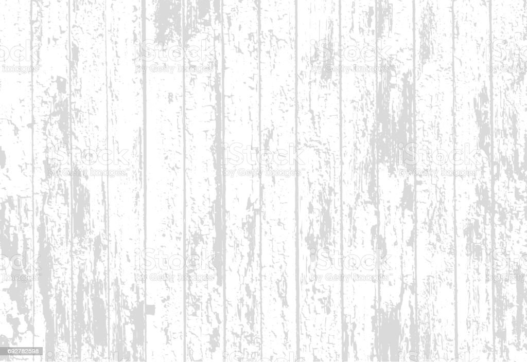 Vector texture of realistic bright white old painted wooden fence. Vector illustration vector art illustration