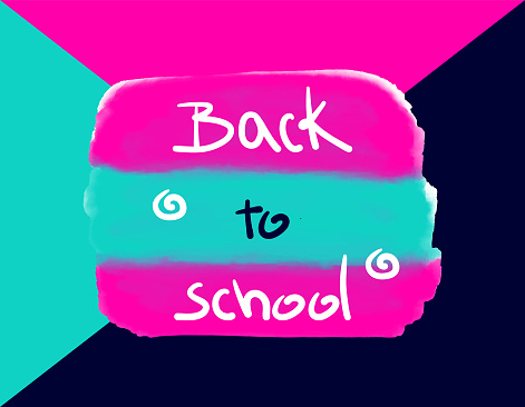 Vector textured background, watercolor smear smudge, acrylic design art, back to school banner