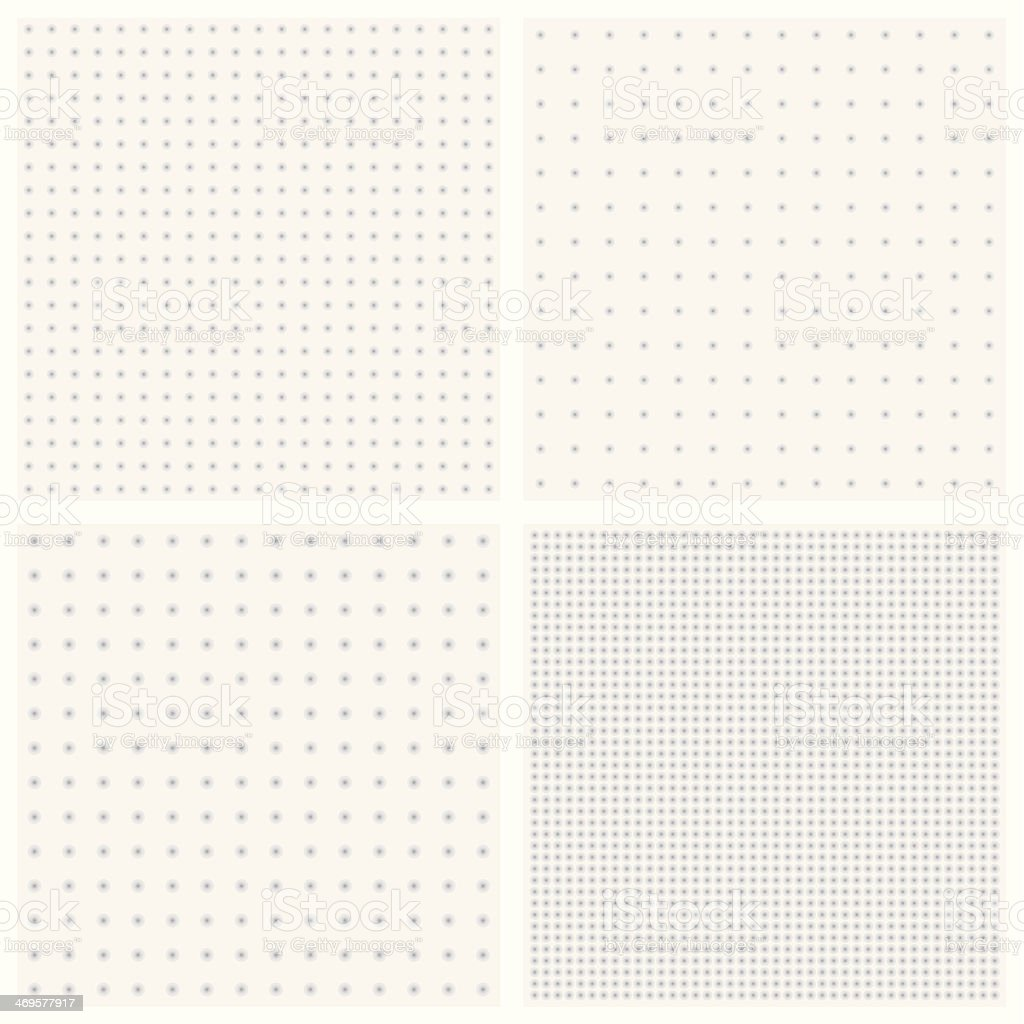 Vector textures of blurred gray dots vector art illustration
