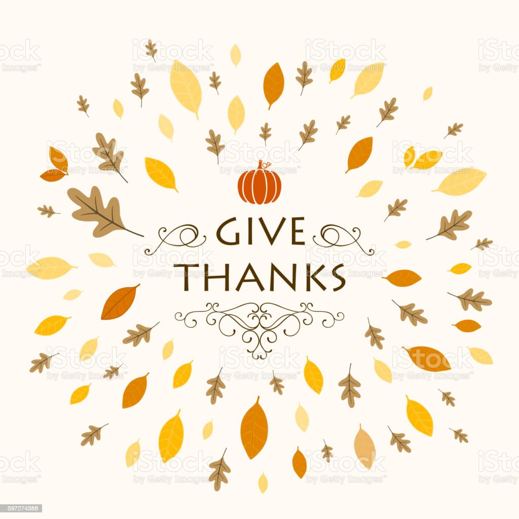 Vector Thanksgiving Background Design with Autumnal Leaves royalty-free vector thanksgiving background design with autumnal leaves stock vector art & more images of american culture
