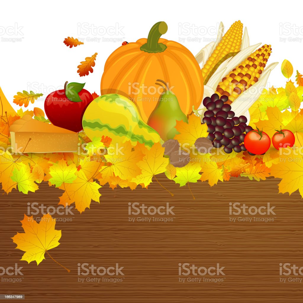Vector Thanksgiving Background royalty-free stock vector art