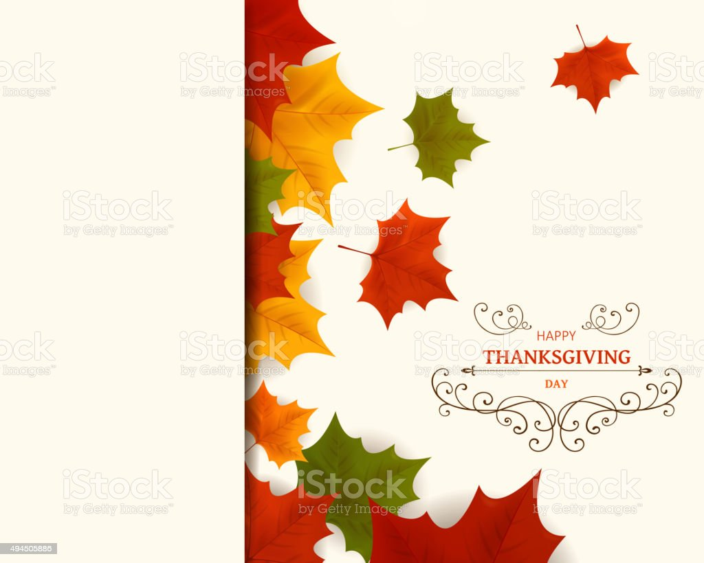 Vector Thanksgiving Design vector art illustration