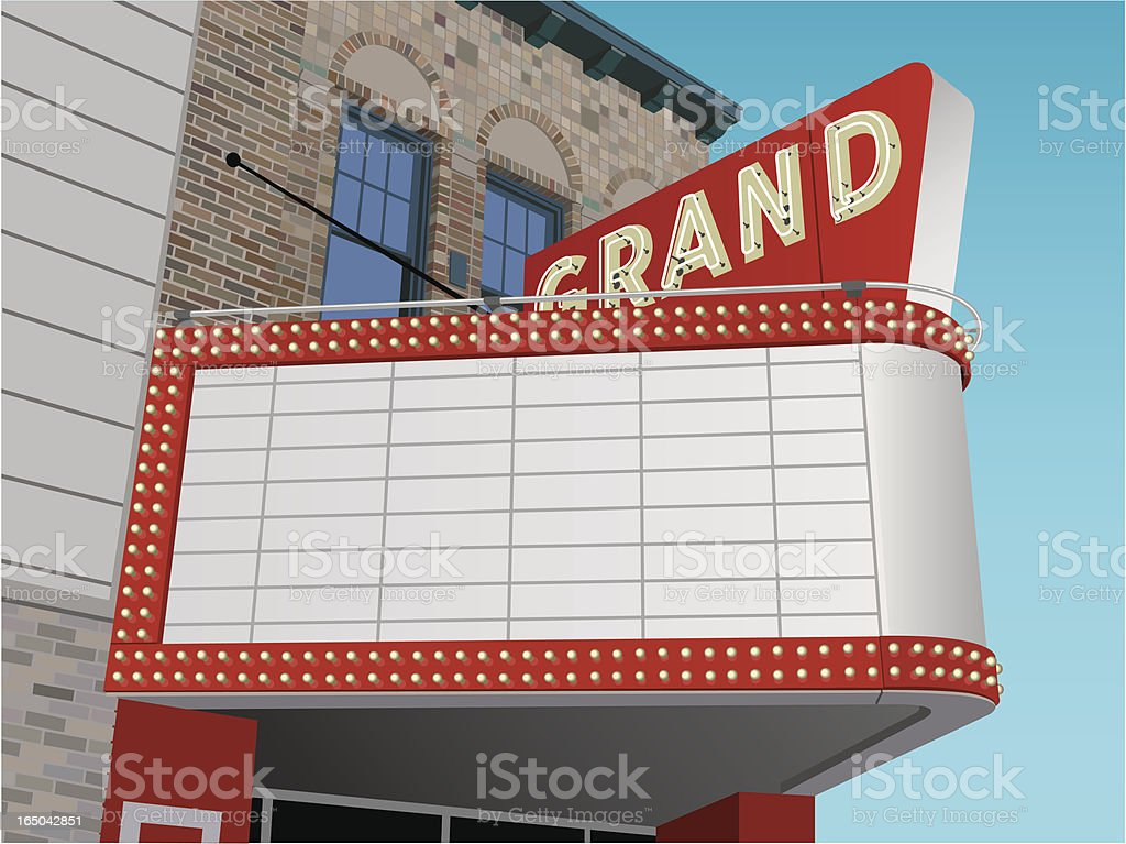 Vector Theater Marquee vector art illustration