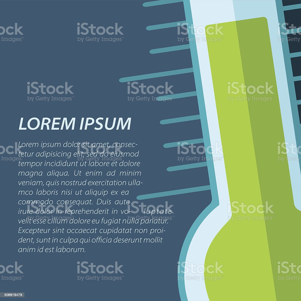 Vector thermometer icon. Eps10 royalty-free stock vector art