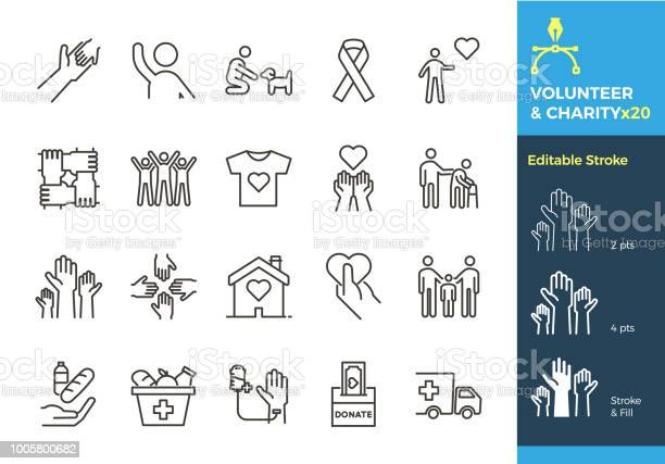 Vector thin line icons related with humanitarian causes volunteering vector id1005800682?b=1&k=6&m=1005800682&s=612x612&h=3 psm44tthmjpunt0hiknfefvcjkckdtawi4lfpw2uu=