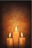 Vector - Three Candles on Grunge Wall