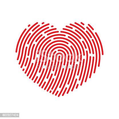Vector Thumbprint Heart Icon