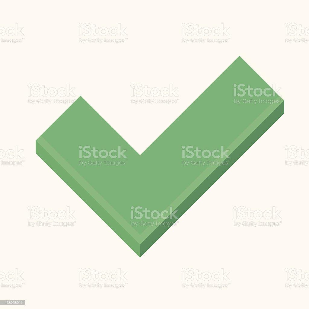 Vector Tick Icon royalty-free stock vector art