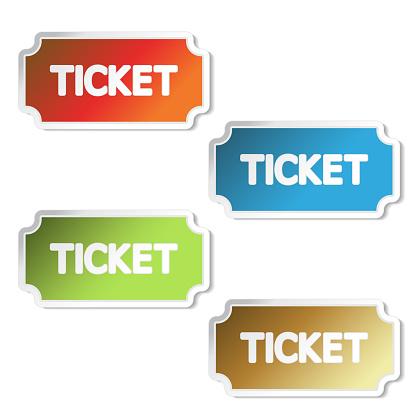 티켓 콘서트 초대 공연 쿠폰 입학 레이블 항목 입구 티켓 벡터 가장자리에 대한 스톡 벡터 아트 및 기타 이미지