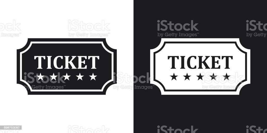 Vector ticket icon. Two-tone version
