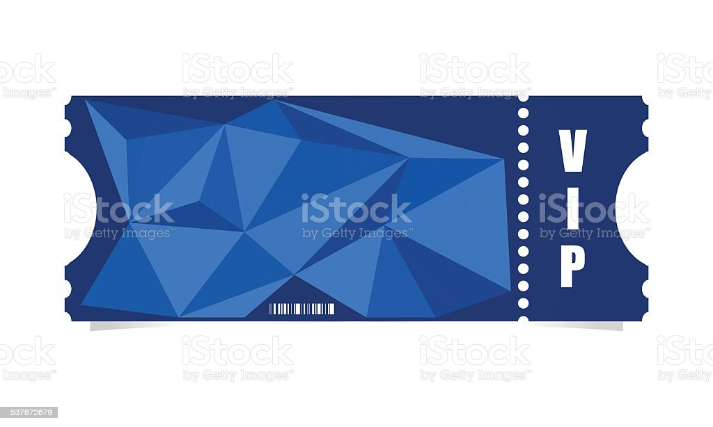 Vector ticket vector art illustration