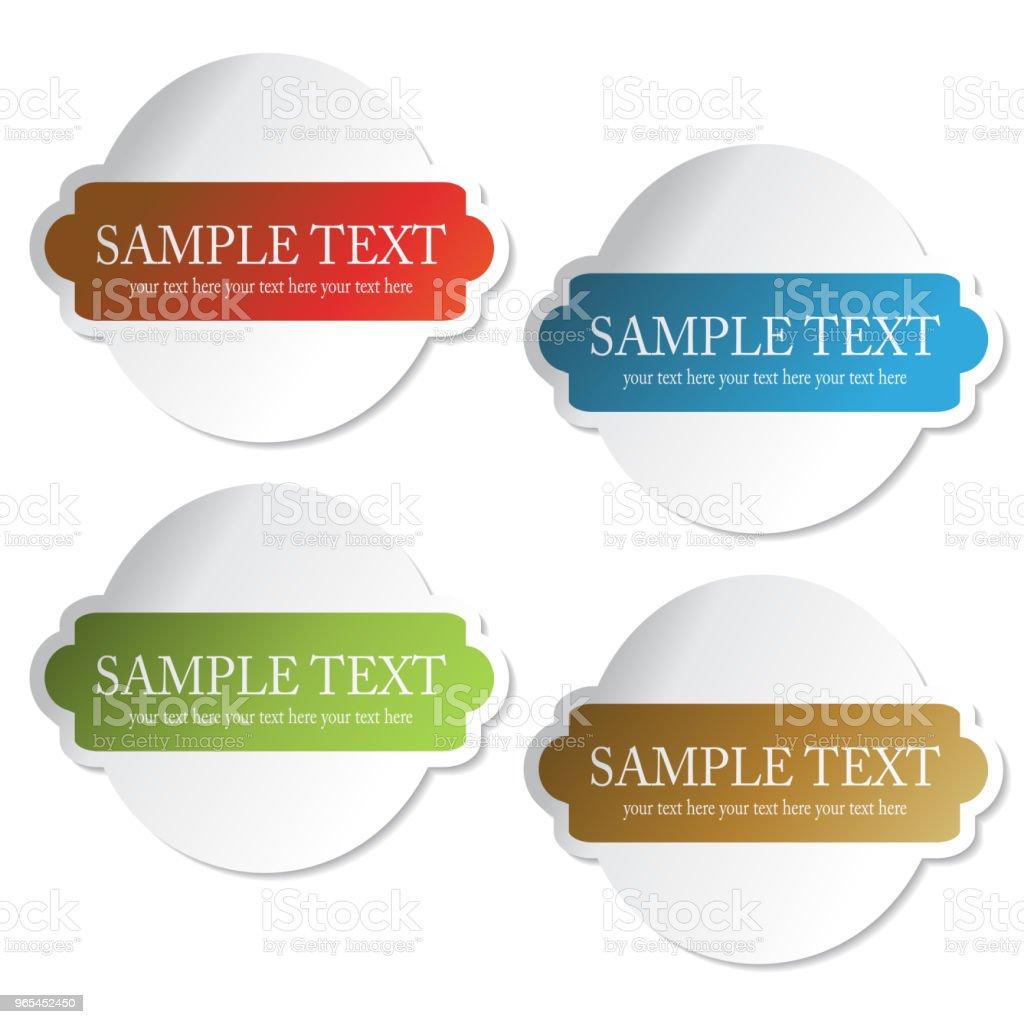 Billets de vecteur, étiquettes de produit, l'information de vente pricetag - clipart vectoriel de Acheter libre de droits