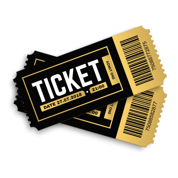 vector tickets. - tickets and vouchers templates stock illustrations