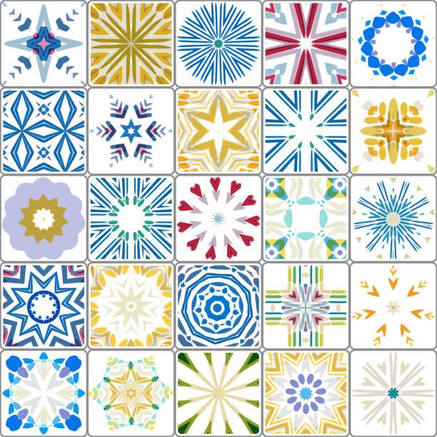 Vector Tile Collection Vector Tile Collection bathroom borders stock illustrations