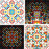 Vector tile mosaic pattern collection