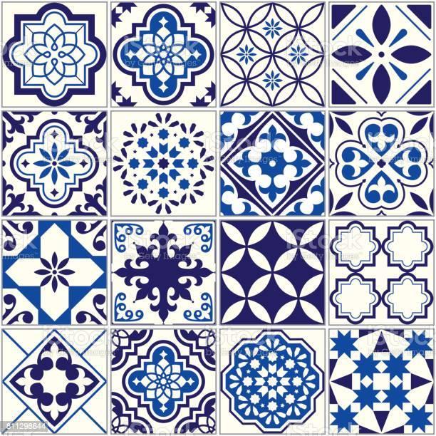 Vector tile pattern lisbon floral mosaic mediterranean seamless navy vector id811298644?b=1&k=6&m=811298644&s=612x612&h=lslpa2n0oofdro0i ijcsqsdcc mfpmiwwaacqxnfgk=