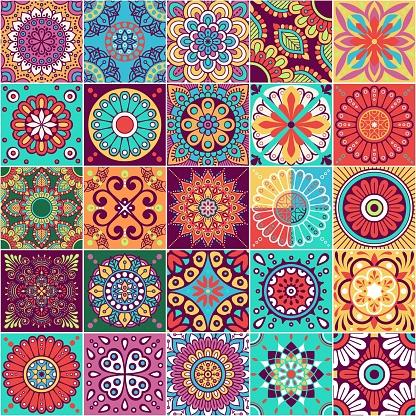 Vector tiles pattern.
