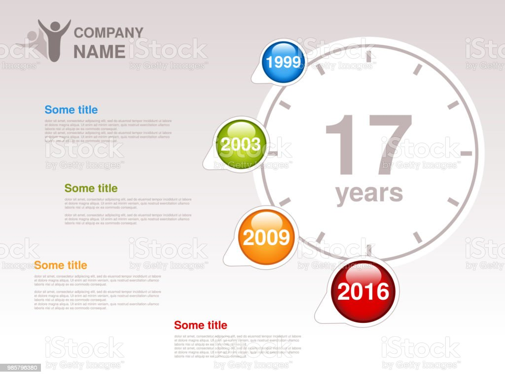Vector Timeline Infographic Template For Company Timeline With ...