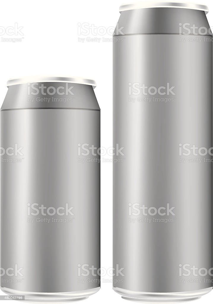 Vector tin cans vector art illustration
