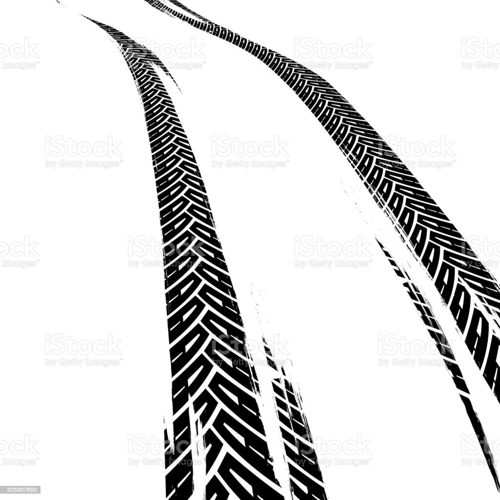 vector tire tracks stock vector art more images of abstract rh istockphoto com tire track vector round border frame tire track vector art free