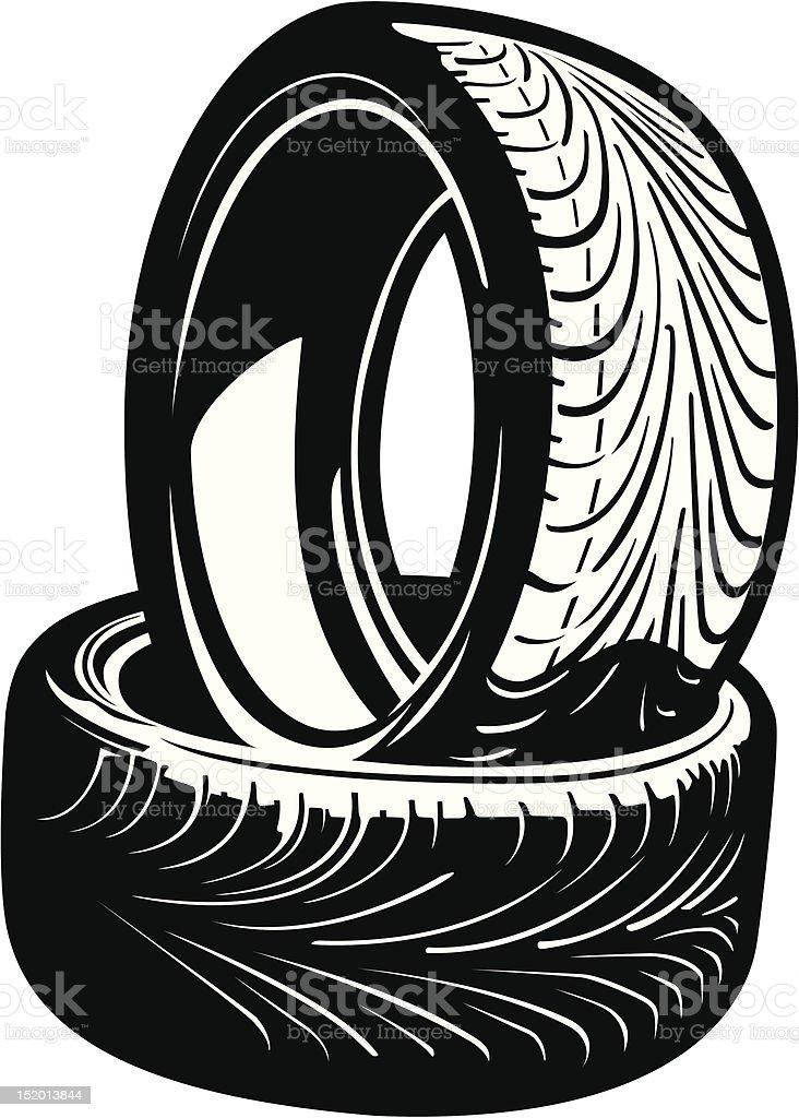 Vector Tires royalty-free stock vector art