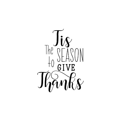 Vector Tis The Season To Give Thanks Lettering Collection