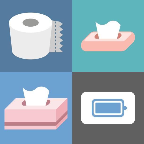 Vector tissue icons set – artystyczna grafika wektorowa