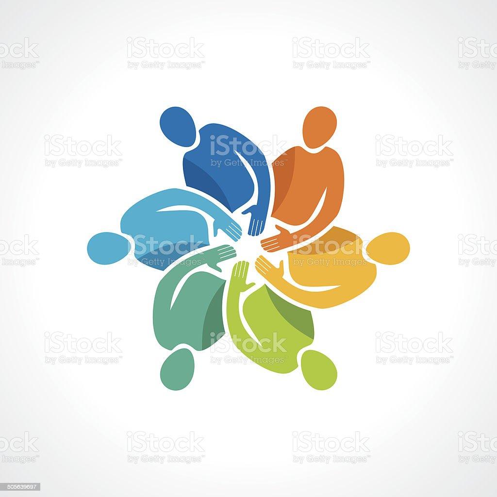 Vector togetherness concept illustration. vector art illustration