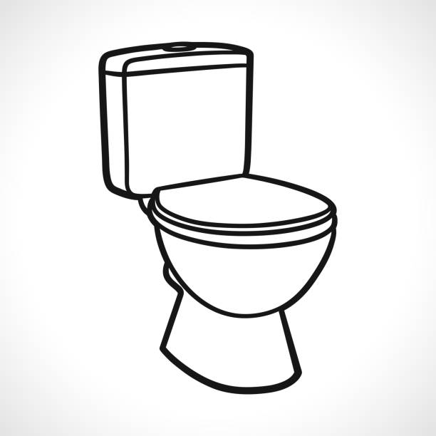 219 Flush Toilet Drawing Illustrations Royalty Free Vector Graphics Clip Art Istock