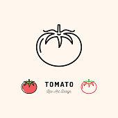 Vector Tomato icon Vegetables . Thin line art design