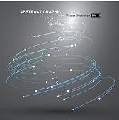 Vector Tornado,Abstract graphics.
