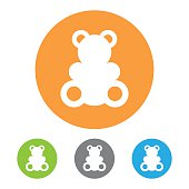 Vector toy bear icon