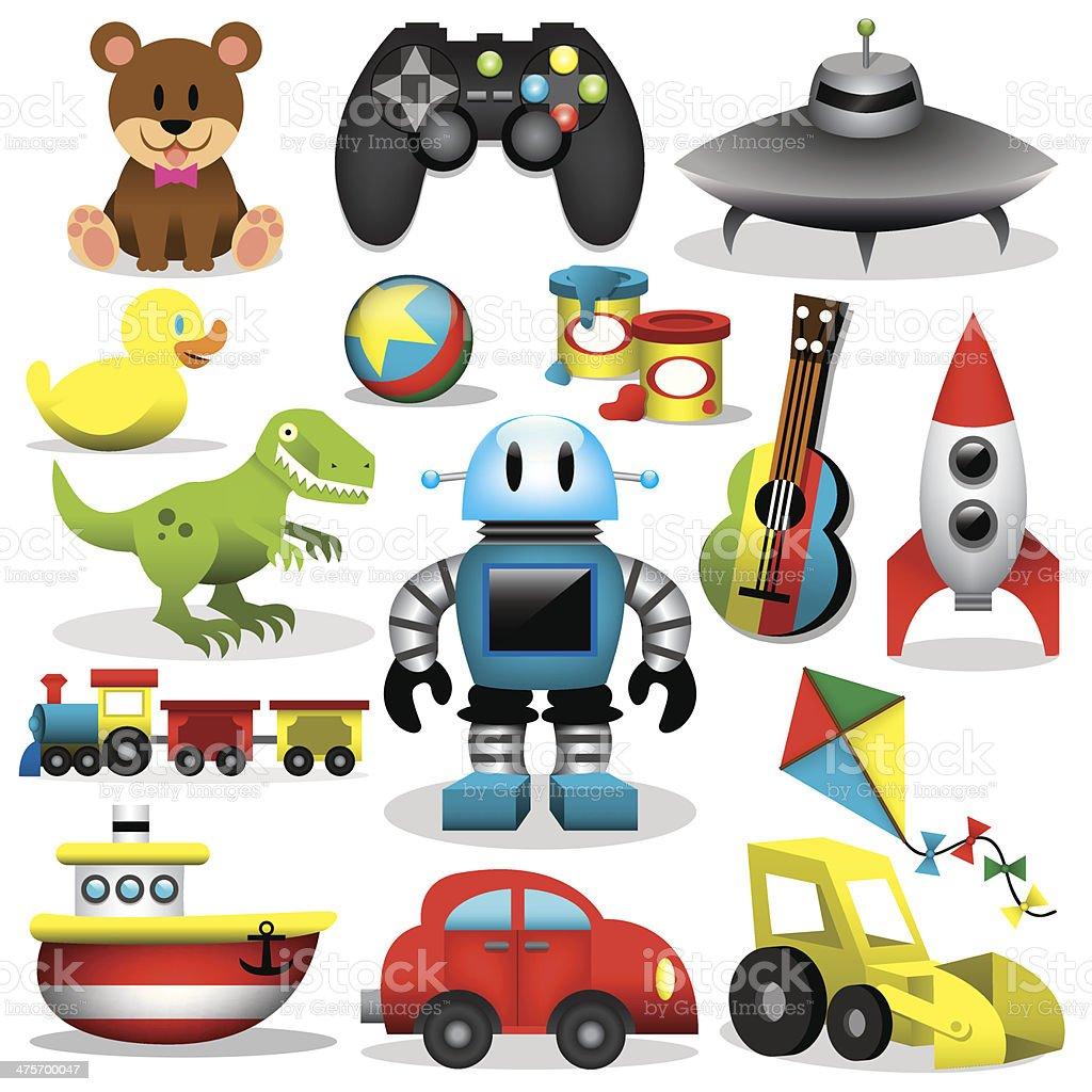 Vector Toys Set vector art illustration