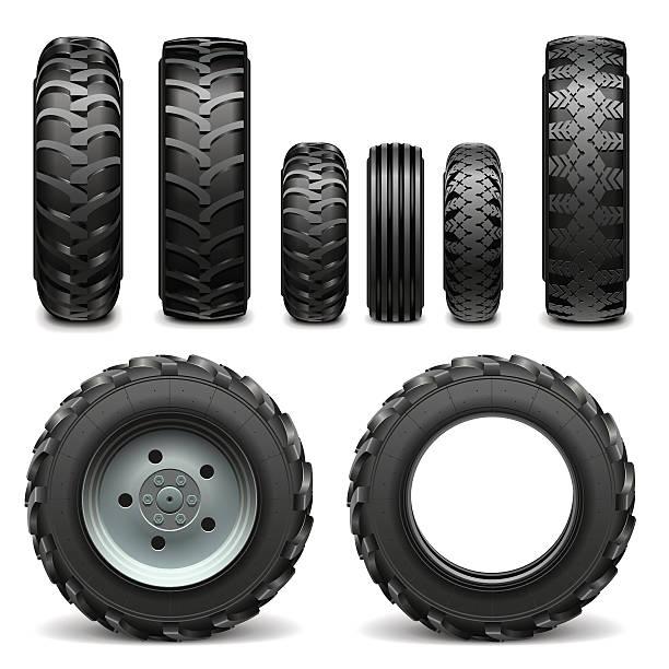 Vektor-Traktor Reifen – Vektorgrafik