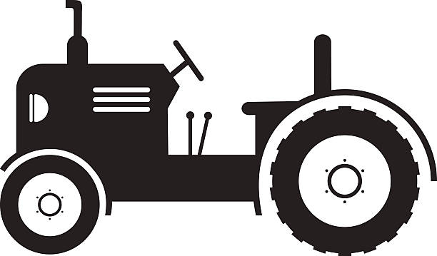 Simple Tractor Clip Art : Detailed tractor clipart outline click the simple