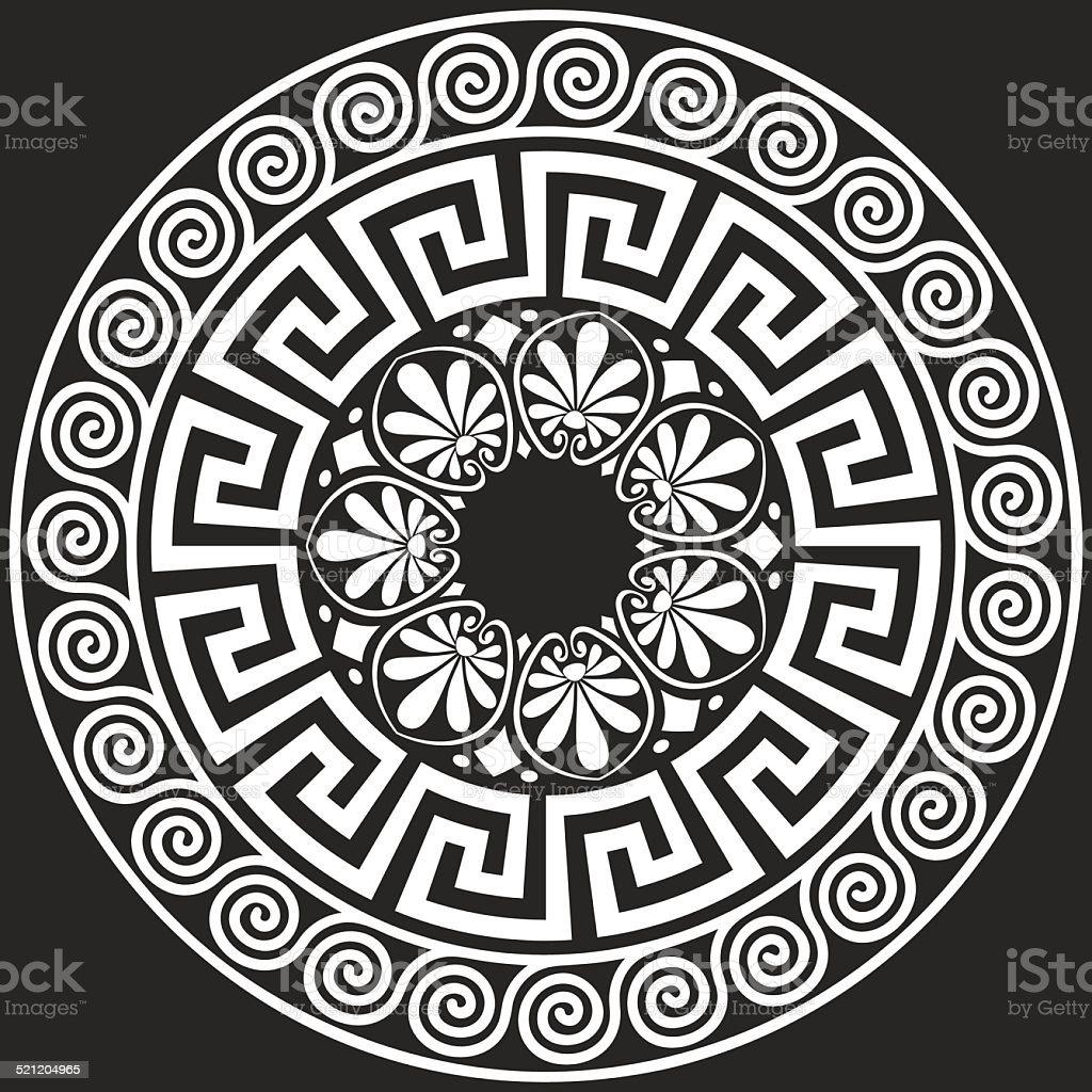 vector Traditional vintage Greek ornament (Meander) vector art illustration