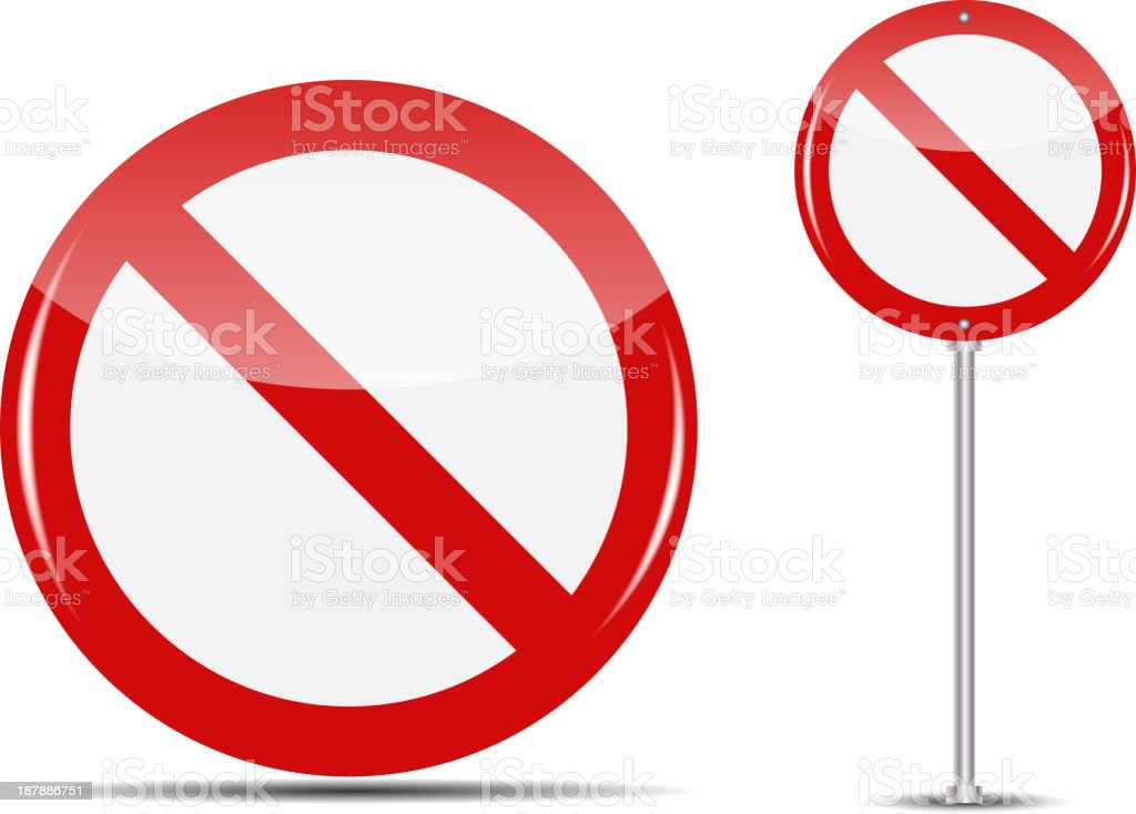 Vector Traffic Sign isolated on white background vector art illustration