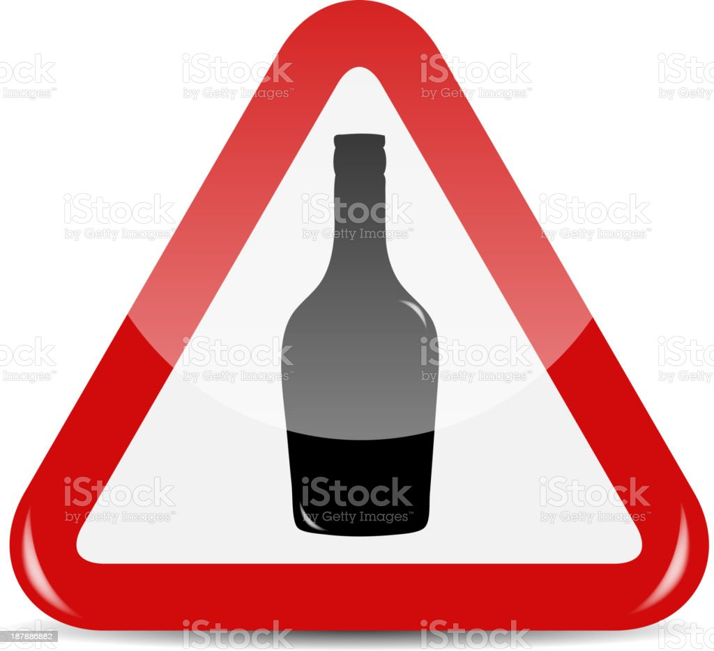 Vector Traffic Sign isolated on white background royalty-free stock vector art