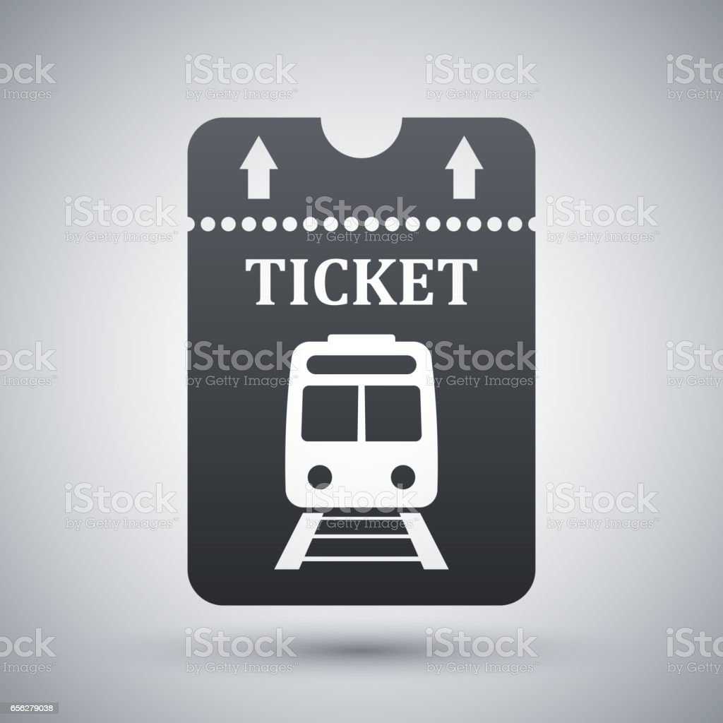 Vector Train Ticket Icon Stock Illustration - Download Image Now