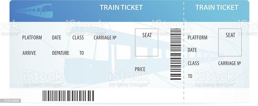 Vektor-Bahn-ticket (tamplate/layout) mit silhouette auf den Hintergrund. Bahnhof – Vektorgrafik