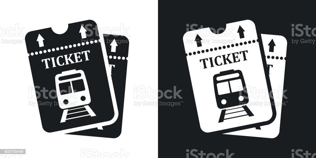 Vektor-Zug-Tickets-Icon. Zweifarbige version – Vektorgrafik