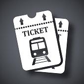 Vector train tickets icon
