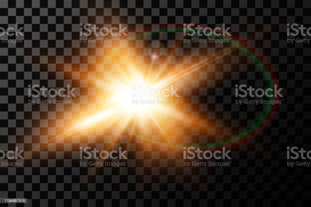 Vector Transparent Sunlight Special Lens Flare Light Effect Sun