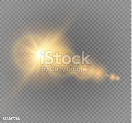 626588878 istock photo Vector transparent sunlight special lens flare light effect. Sun flash with rays and spotlight 875567766