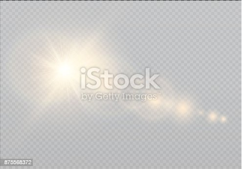 626588878 istock photo Vector transparent sunlight special lens flare light effect. Sun flash with rays and spotlight 875568372