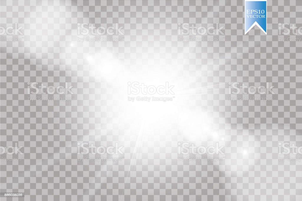 ベクトル透明日光特別なレンズ フレアの光効果。太陽光線とフラッシュし、スポット ライト ロイヤリティフリーベクトル透明日光特別なレンズ フレアの光効果太陽光線とフラッシュしスポット ライト - まぶしいのベクターアート素材や画像を多数ご用意