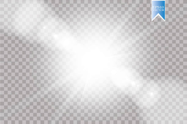 Vector transparent sunlight special lens flare light effect. Sun flash with rays and spotlight Vector transparent sunlight special lens flare light effect. Sun flash with rays and spotlight. eps 10 heaven stock illustrations